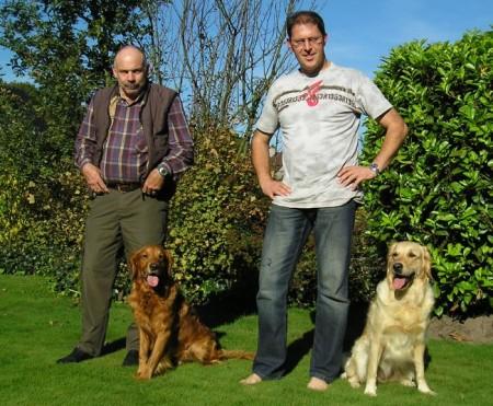 Geens Willy & Georg mit ihren Hunden